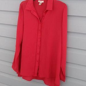 LOFT blouse size medium rust color